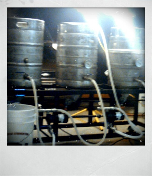 Brew day turned into brew night, on our new big 10 gallon system :)