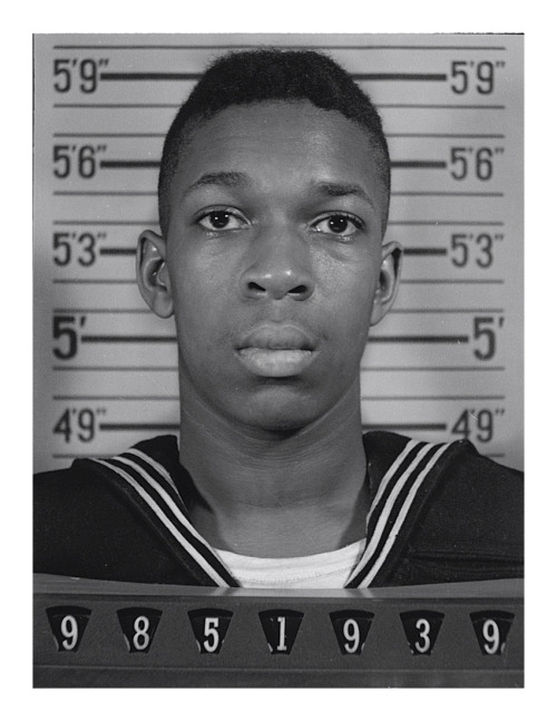 U.S. Naval Reserve photo of John Coltrane in 1945 following his voluntary enlistment as an apprentice seaman (He was 18 at the time).