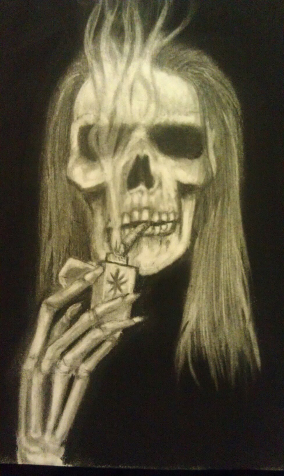 Charcoal, pencil,  drawing