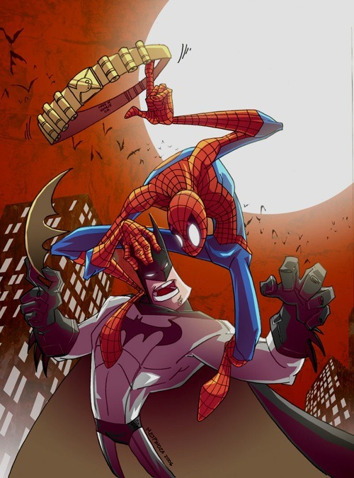 definitionofdork:  Spider-Man Vs. Batman