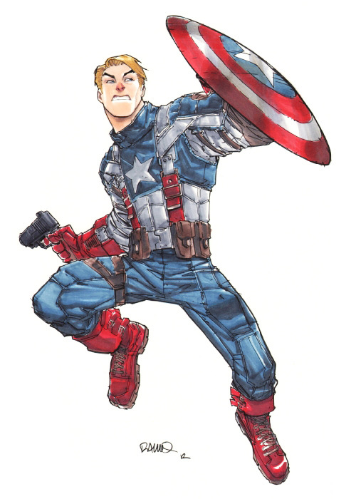 Captain America | by Humberto Ramos  {via jesic}