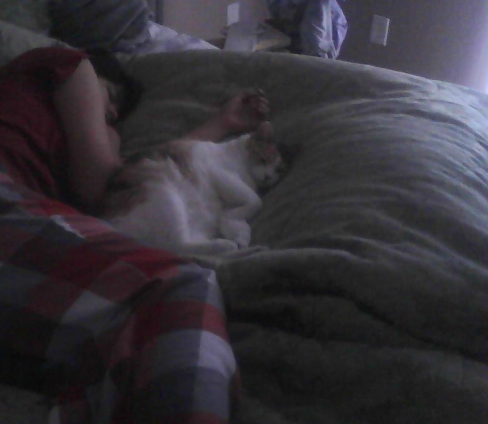and here i am passed out with my kitty