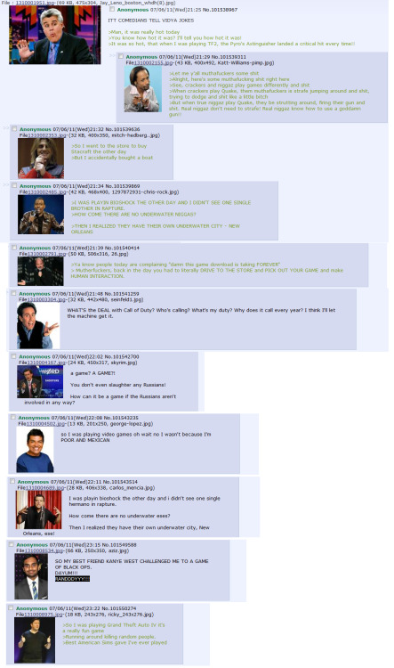 gaminglulz:  4chan on comedians on video games  画