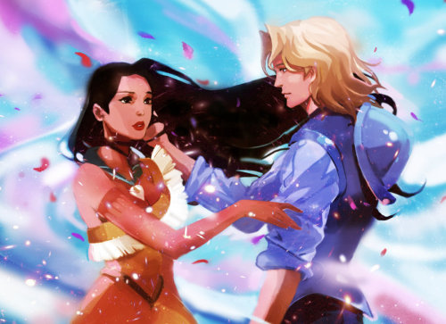 Disney Princess 30 Day Challenge Day 5 - your favourite kiss Pocahontas and John Smith. So romantic! :')