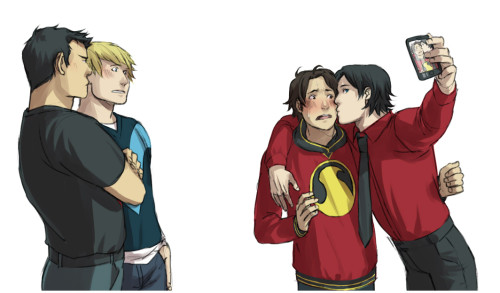 kaciart:  Kon wants Tim Wayne to go away so he can have his Tim back. Teddy would like a copy of that photo kthx Tim can't wait to show Dick these adorable babies And Billy is dead, dead dead dead. - Part 1