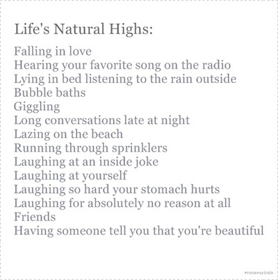 emphasis on the Natural high.