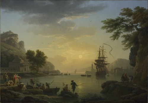A Landscape at Sunset, by Claude Joseph Vernet  A painting is but of a time and place