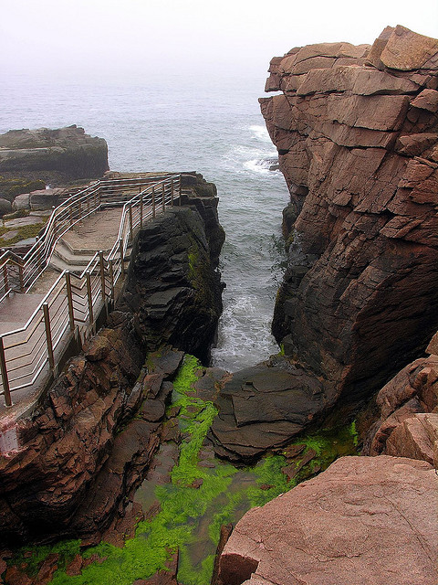 visitheworld:  Thunder Hole in Acadia National Park, Maine, USA (by nj dodge).