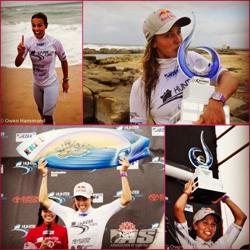 @sally_fitz celebrating her win! #gosally #surfing #surf #winning #asp (Taken with instagram)