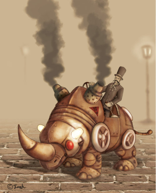 Steam rhino by ~legendary-anteater
