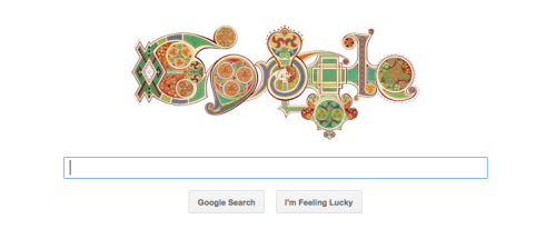 Awesome graphic by google. Happy Saint Patrick's Day!