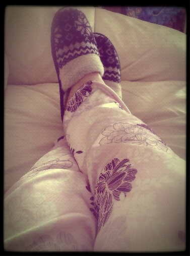 tension back ache is agony, so I've decided today is a lying-on-the-sofa-wearing-pjs-watching-films day.