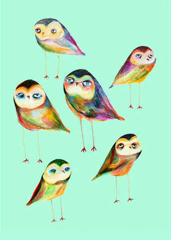 Little Owls by Ashley Percival