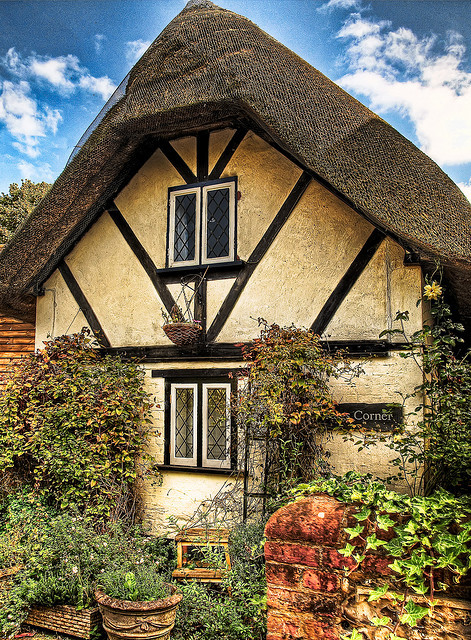 A tiny thatched cottage in the village of Nether Wallop in Hampshire by Anguskirk on Flickr.
