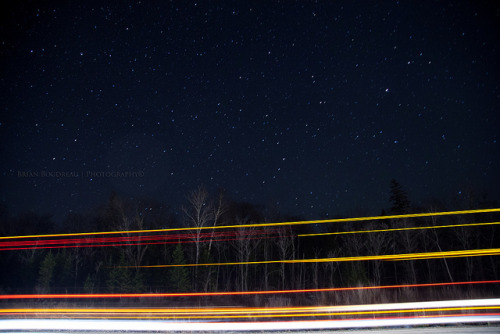 purplehaz3:  Light Trails and Starlight by Chaos2k on Flickr.