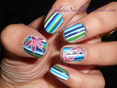 calidasnailsbar:  love these stripe things!