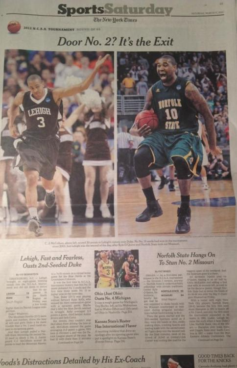 bobbyaguilera:  from Leon Carter (@ScandalB4God)…  And today's NYTimes sports front.
