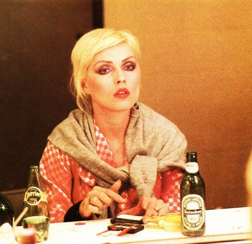 'Heineken & Perrier' Backstage with Debbie Harry of Blondie on tour in 1979. Photo Credit: Roberta Bayley
