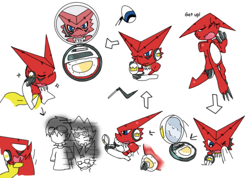 I was just wondering on why shoutmon scars face is blacker then rest of the body. Is it war paint?.. but its shape so perfect.. or is it.there was dialog for this but you guys can try to figure it out