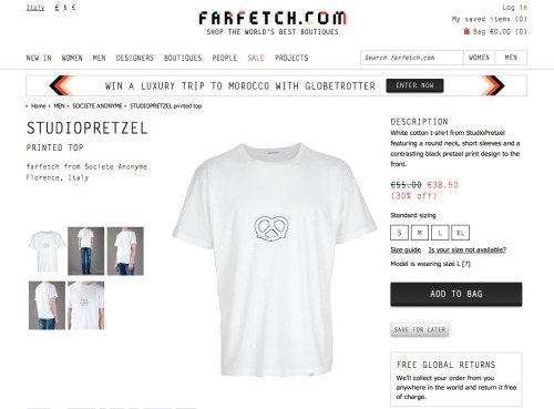 Studiopretzel Classic. Men Printed T-Shirt on SALE