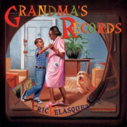 Grandma's Records by Eric Velasquez (Walker and Company, 2001). Eric's grandmother loves music and has her record player spinning all summer long with the sounds of salsa and merengue. She has lots of stories about growing up in Puerto Rico, too. But when her special record is on, Eric's grandma puts her hand over her heart and remembers Eric's grandpa and the time they spent together in Santurce, her hometown. Before the story is over Eric and his grandma have left the record player back at the apartment and headed out to a live show. And Eric grows up to share all kinds of music and memories with his grandmother.  This is an exceptional inter-generational story that weaves together culture and memory so naturally. Check out his website for more illustrations from the book and a very cute picture of the real Eric dancing with his grandma.  (Cover image source: Goodreads)