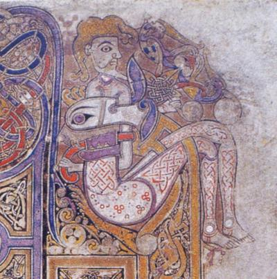 The Book of Kells, detail of Mark incipit