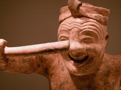 "drummer by Mamluke on Flickr.""Figure of a Squatting Drummer"" China, Eastern Han Dynasty - 1-2nd Century CE"