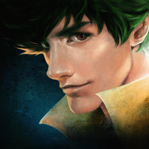 lapsus-memoriae:  smufer:  Cowboy Bebop: Spike Spiegel. Realism. by ~Shilesque  I think my heart just skipped a beat  damn