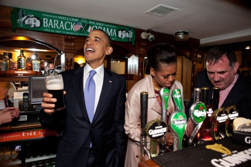 Come on, who doesn't love this? barackobama:  Happy St. Paddy's, everybody.