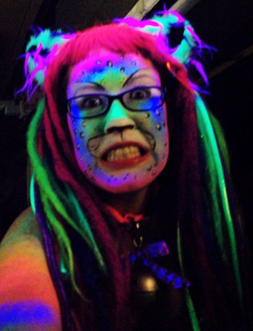 Blacklight Rainbow Leopard by ~LobsterRapist