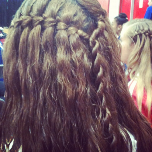 Waterfall braid for dance!