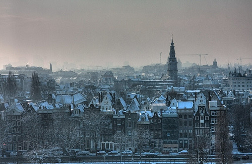 allthingseurope:  Winter view Amsterdam (by sublyro)