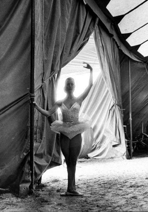 Ballet Dancer at Circus Knie by Lawrence Migdale, 1977