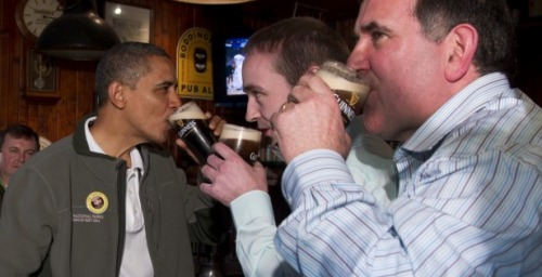 So President O'Bama walks into an Irish pub on St. Patrick's Day…