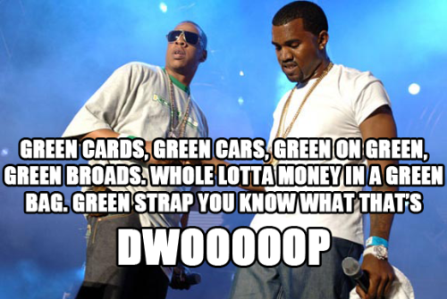 happy st. patricks day from kanye and jay z