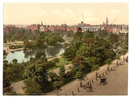 St. Stephen's Green Park, Dublin. County Dublin, Ireland [between ca. 1890 and ca. 1900]