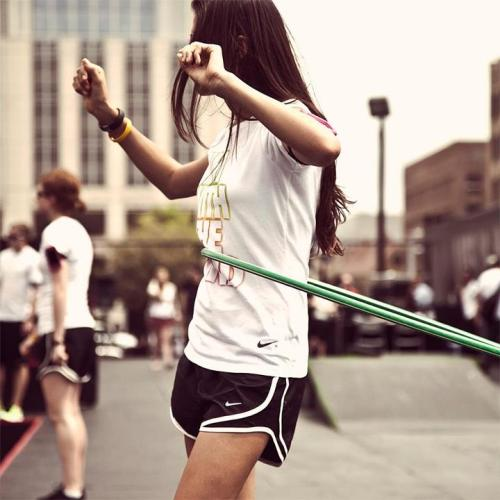 Hula Hooping. #counts