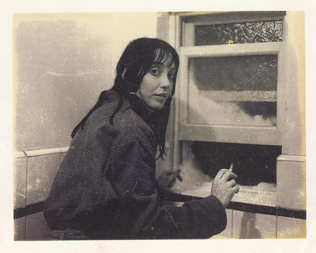 Continuity Polaroid of actress Shelley Duvall on the Apartment Bathroom set of The Shining.