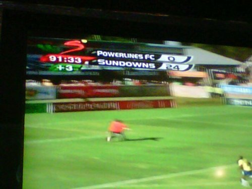 Massive score in the South African Premier Football (Soccer) League.