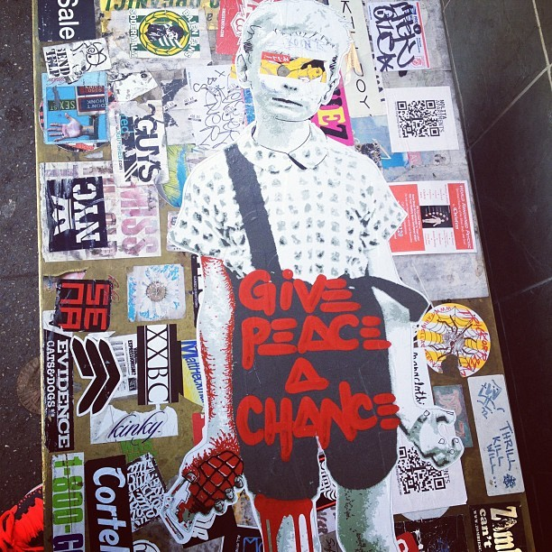 Give peace a chance.  (Taken with instagram)