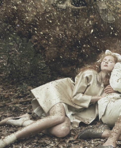 Lily Cole by Annie Leibovitz for Vogue US December 2009