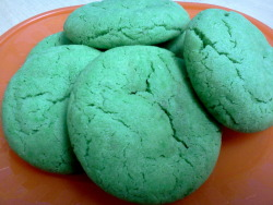 Happy Saint Patrick's Day…For baking/cooking Fridays I baked green sugar cookies with the kids, and they were delicious!