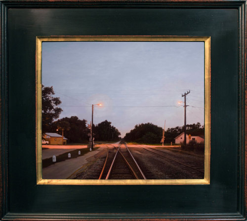 "Matthew Cornell, ""Crossroads,"" Oil on Panel, 13"" x 15"""