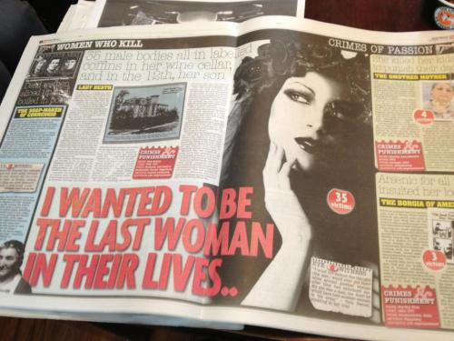"msbum:  silveraj:  Today, the Daily Mirror have used a photo of Morgana, a photographer and model, without permission. This alone is nothing new; it happens every day. But it gets worse. Her photo is on the front page, with the title 'Women Who Kill', alongside portraits of genuine murderers. The Mirror have also used her photo (an artistic self portrait) at full size, to illustrate a giant double page spread about a real serial killer, 'Lady Death', with the tagline, '35 male bodies all in labelled coffins in her wine cellar'. Morgana has quotes splashed over her such as ""I Wanted To Be The Last Woman In their Lives"" and '35 victims'.  They stole the photo from Morgana's Deviant Art gallery and cropped her copyright and logo off the bottom.  The Mirror's horrifying disregard for copyright and lazy, cheap journalism knows no bounds. Did they think they would get away with using this photo, without permission or payment, in pretty much the most libellous way possible? How stupid are these people? Needless to say, Morgana is taking legal action.   FURIOUS. She is one of my most favourite models and photographers. HOW DARE THEY!  What on earth do they think they're doing?! Who would think this was acceptable?! ARGH! Gutter press!!!"