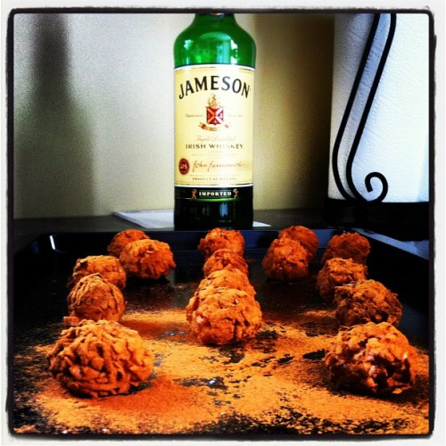 Hell yes Irish potatoes with extra whiskey. (Taken with Instagram at Pat doodys house of ill repute)