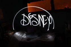 disney sooc light graffiti