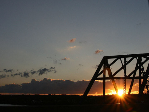 Sunset over the Illinois River, Peoria Illinois (by ddurbin123)