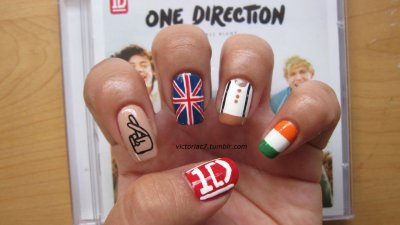 One Direction nails! I just couldn't help myself..lol