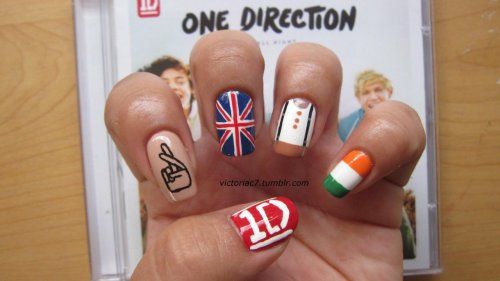 victoriac7:  One Direction nails! I just couldn't help myself..lol  WHERE DID YOU GET THESE DONE? I LOVE ONE DIRECTION 1D