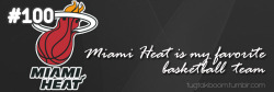For December 30th - I've liked Miami Heat since I was in sixth grade until now. I don't even care if they win or lose. I just know that I love their team :))  and their logo
